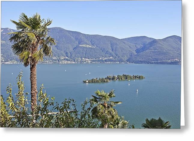 Tessin Greeting Cards - Isole di Brissago Greeting Card by Joana Kruse