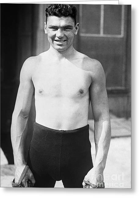 Dempsey Greeting Cards - Jack Dempsey (1895-1983) Greeting Card by Granger