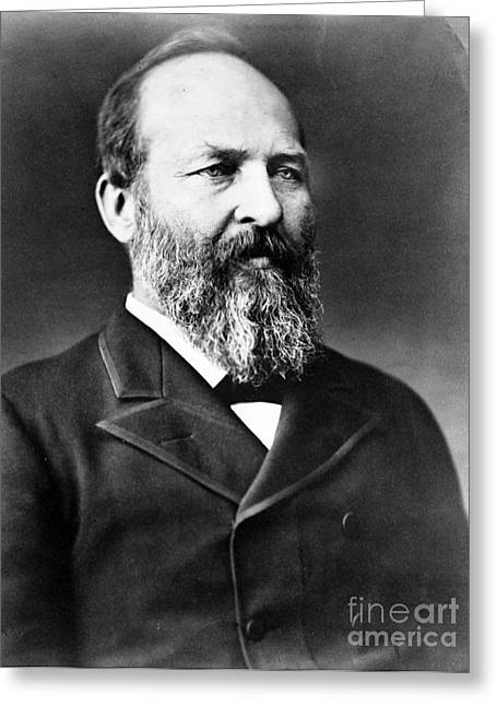 Anti-slavery Greeting Cards - James A. Garfield, 20th American Greeting Card by Photo Researchers