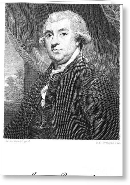 Autograph Greeting Cards - James Boswell (1740-1795) Greeting Card by Granger