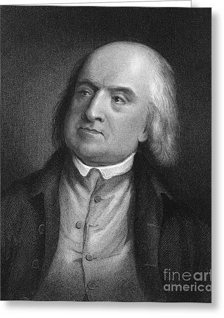 Jeremy Greeting Cards - Jeremy Bentham (1748-1832) Greeting Card by Granger
