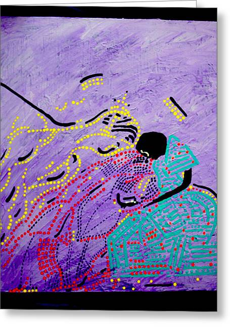 Sacrificial Art Greeting Cards - Jesus and Mary Greeting Card by Gloria Ssali