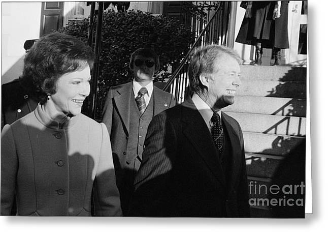 First-lady Greeting Cards - Jimmy Carter (1924- ) Greeting Card by Granger