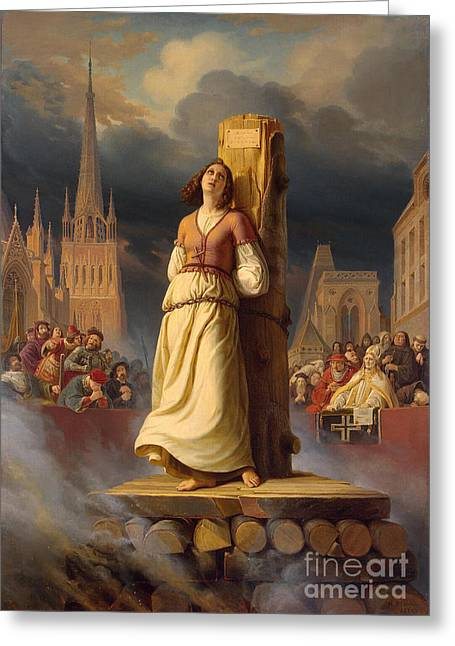 The Hermitage Greeting Cards - Joan Of Arc, French National Heroine Greeting Card by Photo Researchers