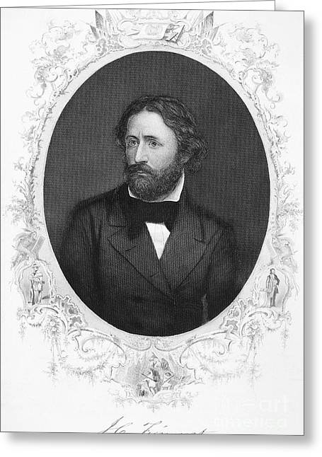 Autograph Greeting Cards - John C. Fremont (1813-1890) Greeting Card by Granger