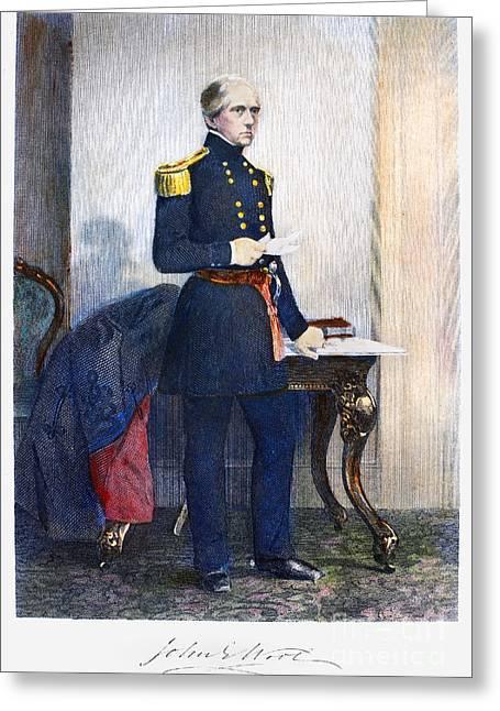 U.s Army Greeting Cards - John Ellis Wool (1784-1869) Greeting Card by Granger
