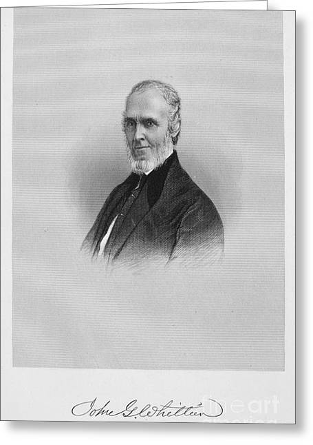 Autograph Greeting Cards - John Greenleaf Whittier Greeting Card by Granger