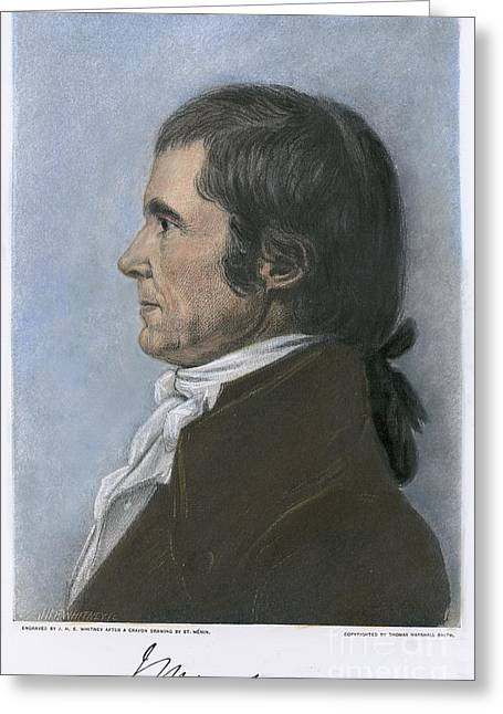 Saint-julien Greeting Cards - John Marshall (1755-1835) Greeting Card by Granger