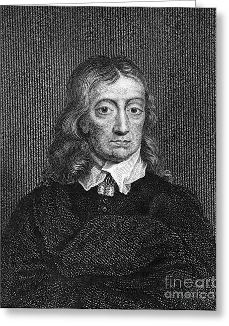 Autographed Greeting Cards - John Milton (1608-1674) Greeting Card by Granger