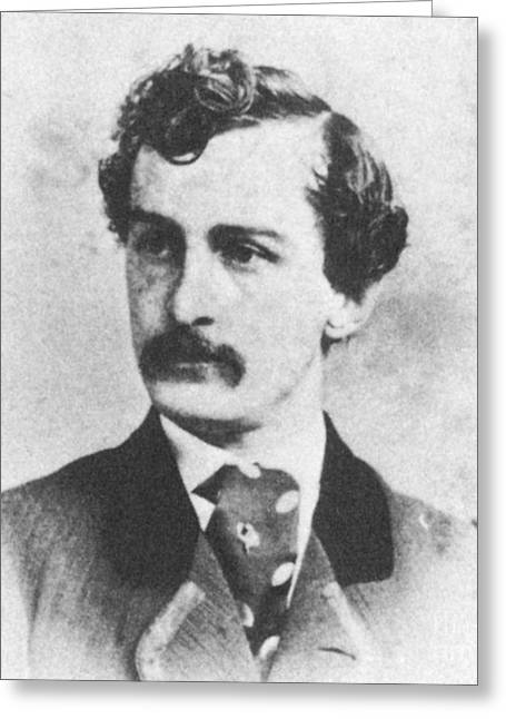 Voting Rights Greeting Cards - John Wilkes Booth, American Assassin Greeting Card by Photo Researchers