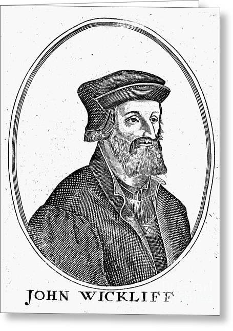 John Wycliffe (1320?-1384) Greeting Card by Granger