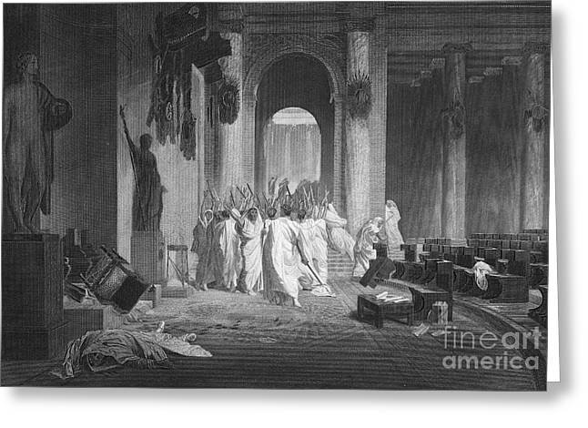 Junius Greeting Cards - Julius Caesar (100 B.c.-44 B.c.) Greeting Card by Granger