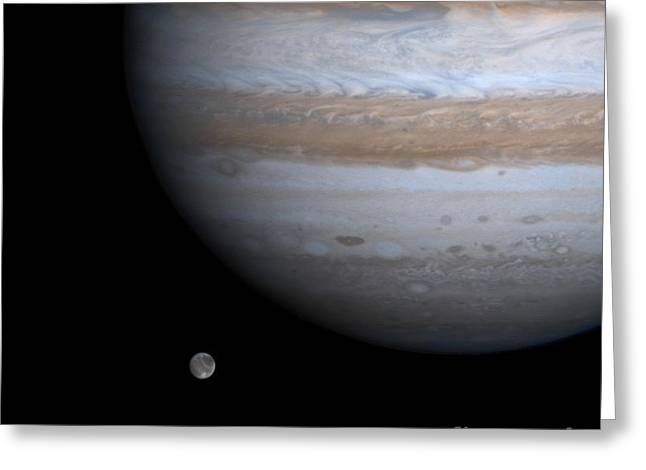 Large Moon Greeting Cards - Jupiter Greeting Card by NASA / Science Source