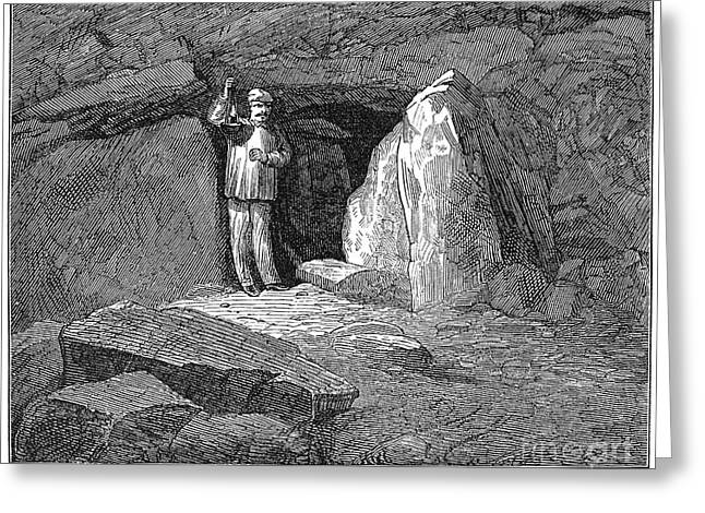 1876 Greeting Cards - Kentucky: Mammoth Cave Greeting Card by Granger