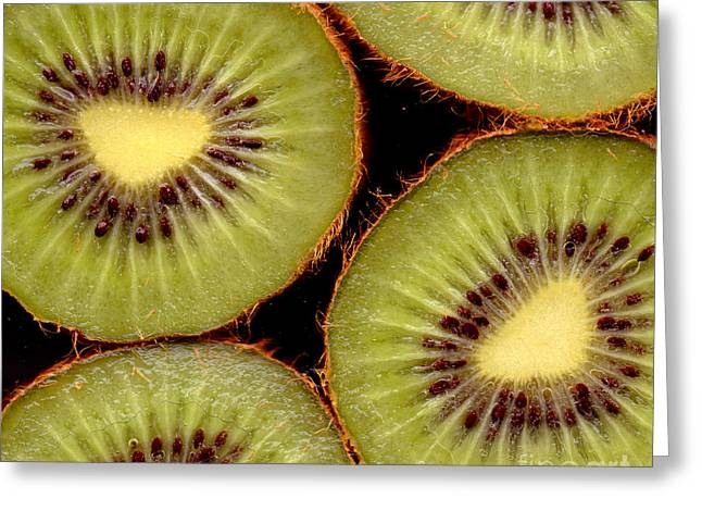 Kiwifruit Greeting Cards - 4 Kiwi Greeting Card by Nancy Mueller