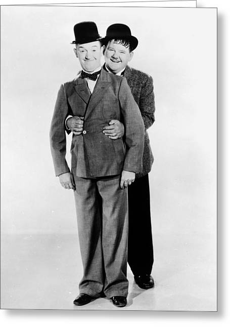 Laurel And Hardy Greeting Cards - Laurel And Hardy Greeting Card by Granger