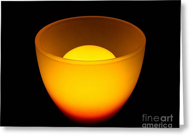 Coloured Greeting Cards - Light lamp Greeting Card by Odon Czintos