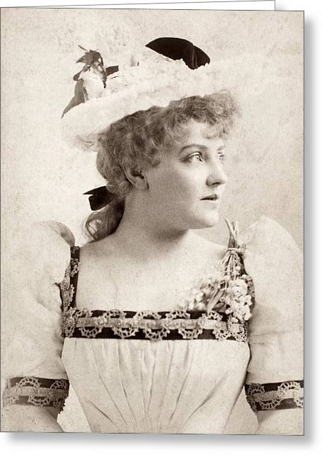 Decolletage Greeting Cards - Lillian Russell (1861-1922) Greeting Card by Granger