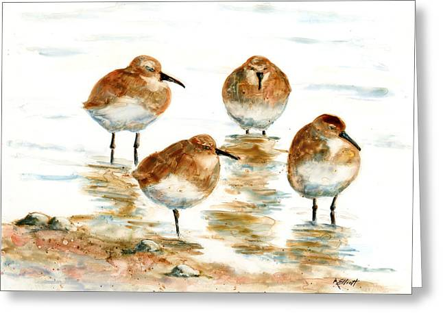 Aviary Greeting Cards - 4 Little Pipers Greeting Card by Marsha Elliott