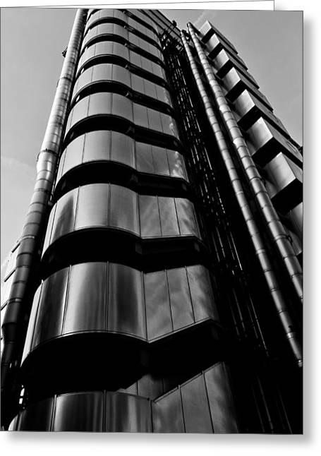 Metal Art Greeting Cards - Lloyds of London  Greeting Card by David Pyatt