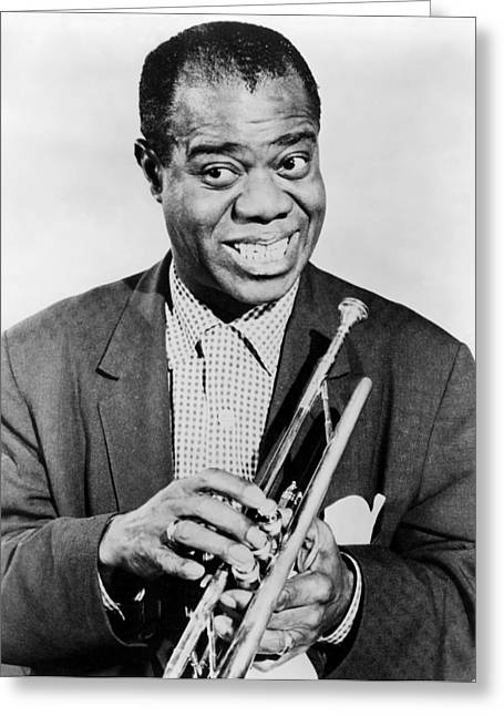 20th Greeting Cards - Louis Armstrong 1900-1971 Greeting Card by Granger