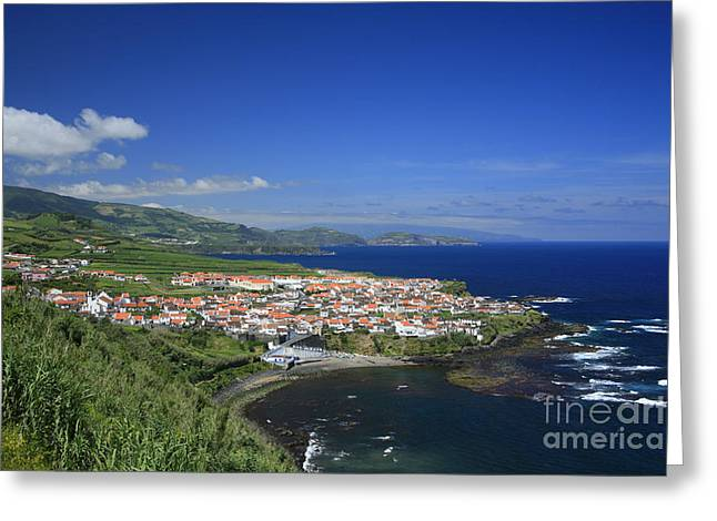Village By The Sea Greeting Cards - Maia - Azores islands Greeting Card by Gaspar Avila