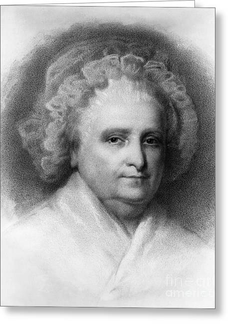 First-lady Photographs Greeting Cards - Martha Washington, American Patriot Greeting Card by Photo Researchers