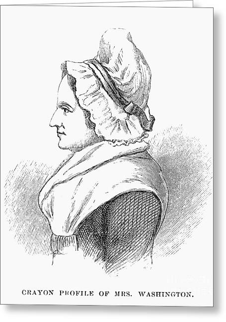 Lady Washington Greeting Cards - Martha Washington Greeting Card by Granger