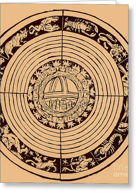 Element Of Air Greeting Cards - Medieval Zodiac Greeting Card by Science Source