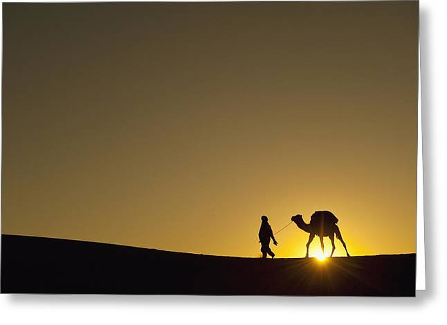 20-24 Years Greeting Cards - Merzouga, Morocco Greeting Card by Axiom Photographic