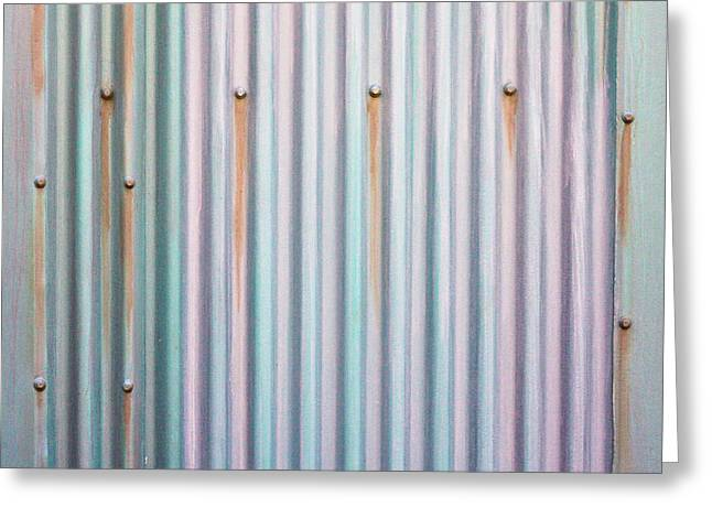 Metal Background Greeting Card by Tom Gowanlock