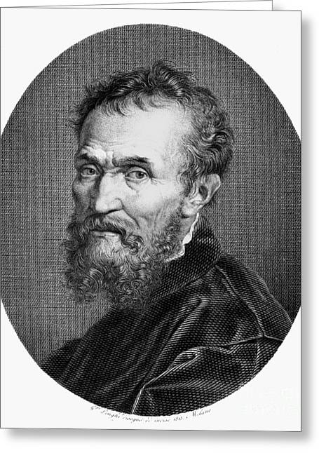 Michelangelo Greeting Cards - Michelangelo (1475-1564) Greeting Card by Granger