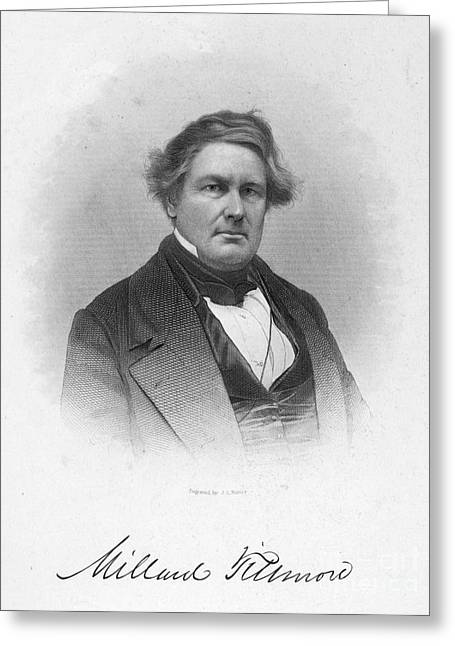 Autograph Greeting Cards - Millard Fillmore (1800-1874) Greeting Card by Granger