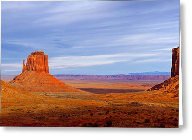 Layers Greeting Cards - Monument Valley Greeting Card by Brian Jannsen