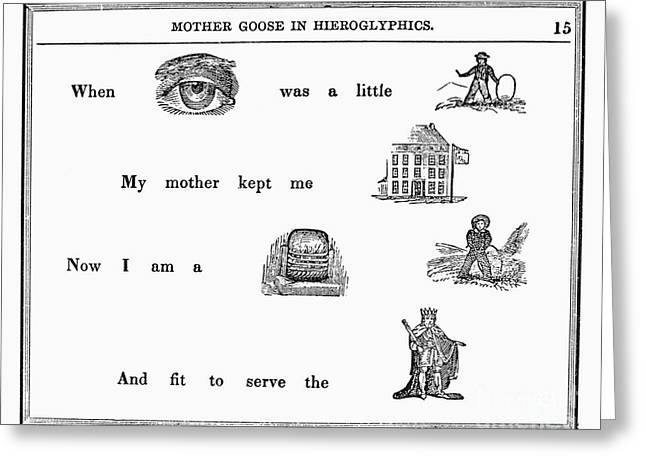Rebus Greeting Cards - Mother Goose, 1849 Greeting Card by Granger