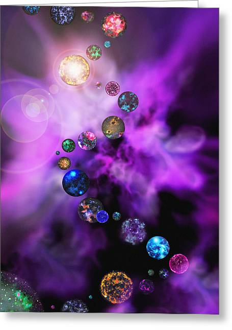 Parallel Universe Greeting Cards - Multiple Universes Greeting Card by Mehau Kulyk