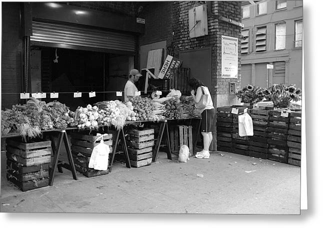 Proprietor Greeting Cards - New York City Market Greeting Card by Frank Romeo