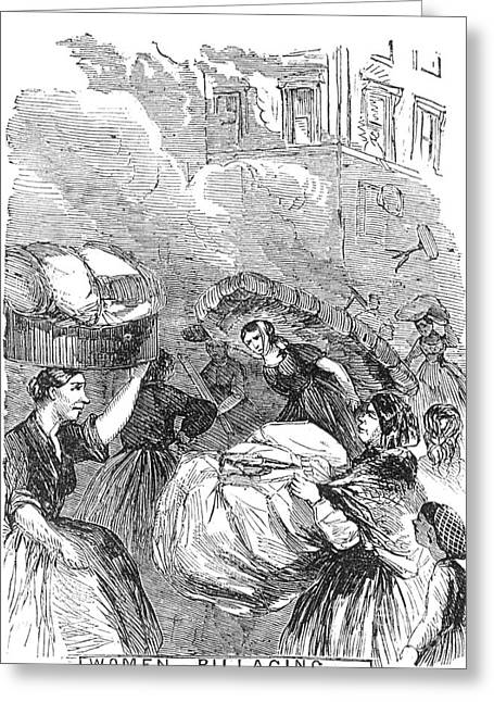 Plunder Greeting Cards - New York: Draft Riots 1863 Greeting Card by Granger