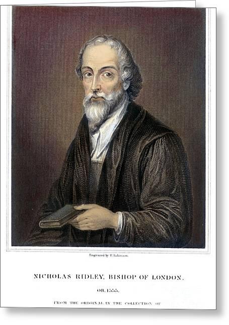 Nicholas Ridley (1500-1555) Greeting Card by Granger