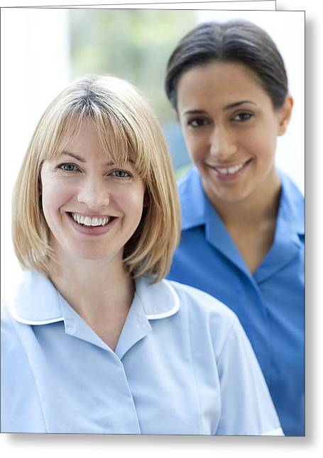 20-24 Years Greeting Cards - Nurses Smiling Greeting Card by