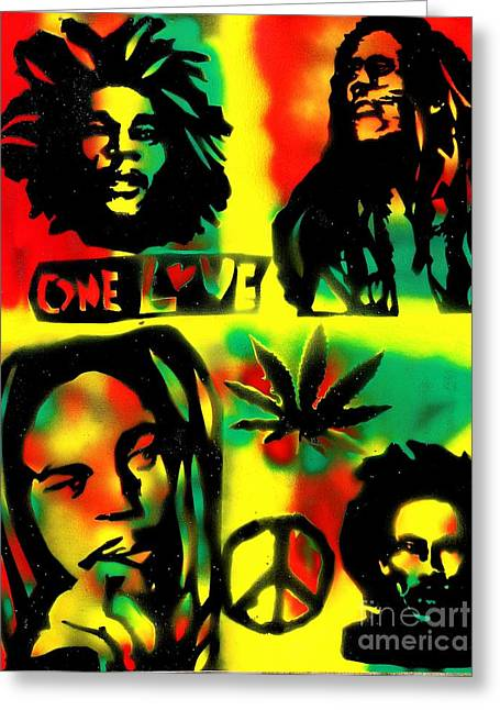 First Amendment Greeting Cards - 4 One Love Greeting Card by Tony B Conscious
