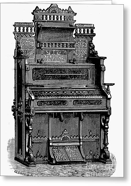 19th Century America Greeting Cards - ORGAN, 19th CENTURY Greeting Card by Granger