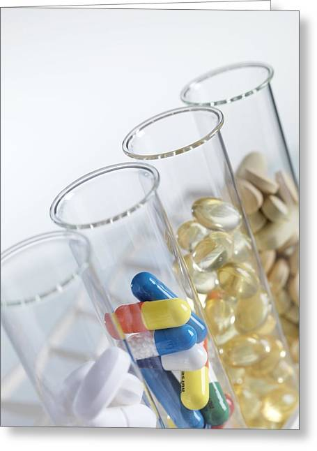 Quartet Greeting Cards - Pharmaceutical Research Greeting Card by Tek Image