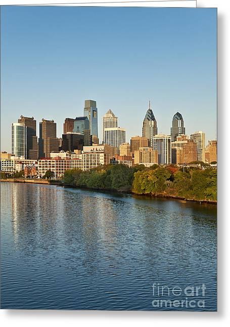 Phila Greeting Cards - Philadelphia Skyline Greeting Card by John Greim