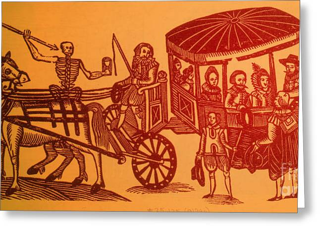 History Of Medicine Greeting Cards - Plague Greeting Card by Science Source