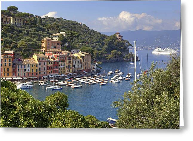 High Society Photographs Greeting Cards - Portofino Greeting Card by Joana Kruse