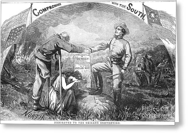 Confederate Flag Greeting Cards - Presidential Campaign, 1864 Greeting Card by Granger