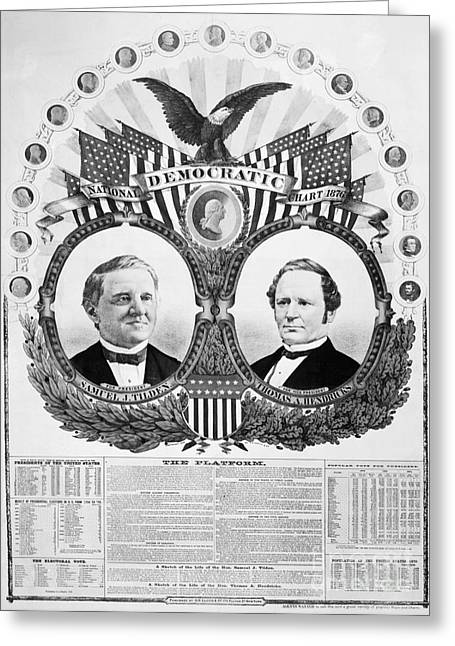 Presidential Campaign, 1876 Greeting Card by Granger