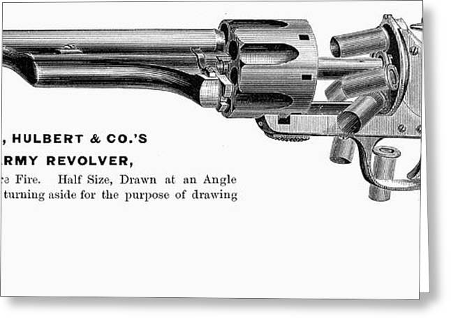 Engraving Greeting Cards - REVOLVER, 19th CENTURY Greeting Card by Granger
