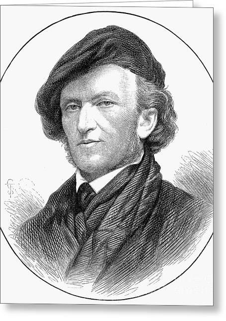 Sideburns Greeting Cards - Richard Wagner (1813-1883) Greeting Card by Granger